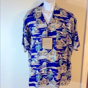 Pineapple Connection Button Up Short Sleeve Shirt.